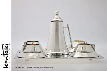 Hollywood stars posed with the Conical Tea Set at the Royal Monceau in Paris!