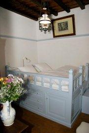 Patmos- Petra Villa Bedroom & Traditional Patmian bed- Krevatos