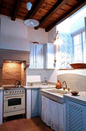 Patmos- Petra Villa Kitchen