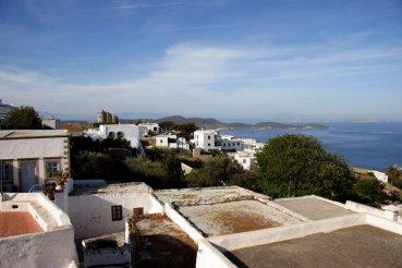 Patmos- Petra Villa Rooftop terrace view