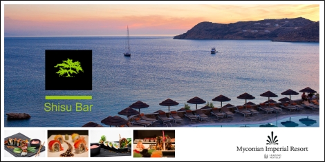 Shisu bar Myconian Imperial Resort – The exceptional experience with the ultimate greek traditional twist!